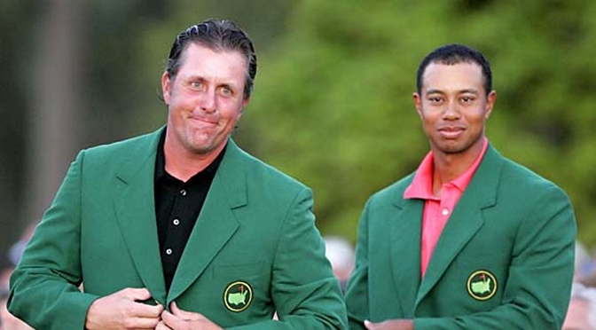 Two former Masters winners, Phil Mickelson and Tiger Woods