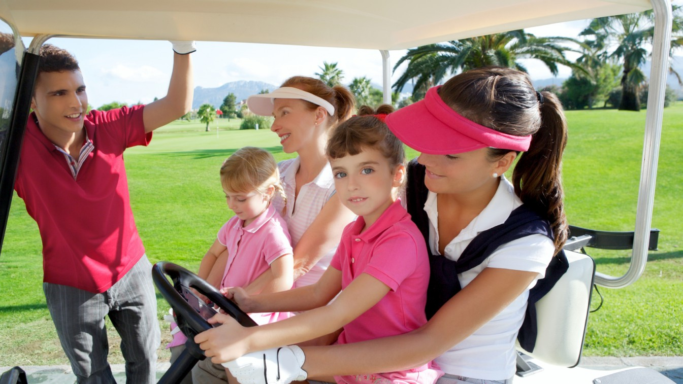 Golfing mums on Mother's Day