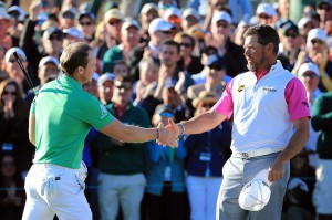 Danny Willett and Lee Westwood played alongside each other