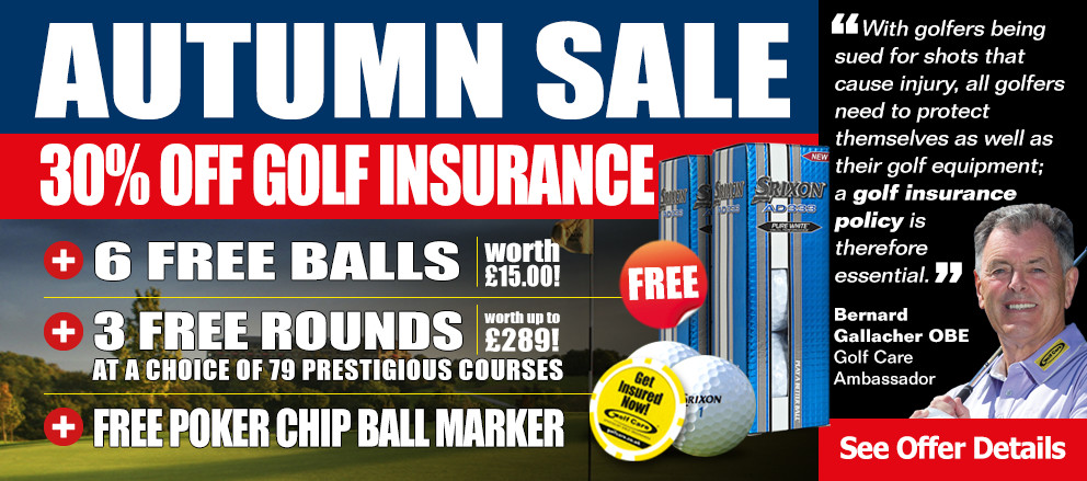 30% off Annual Golf Insurance